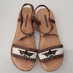 Minnetonka Indian Style Leather Sandals Sz 6